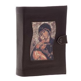 Copertina Bibbia Studio pelle Madonna e bambino s1