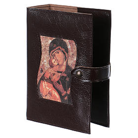 Copertina Bibbia Studio pelle Madonna e bambino s3