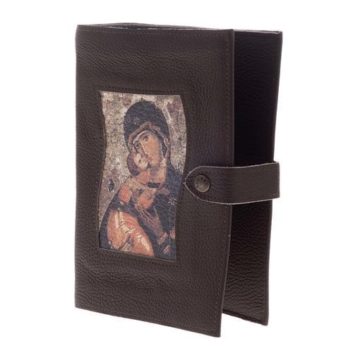 Copertina Bibbia Studio pelle Madonna e bambino 3