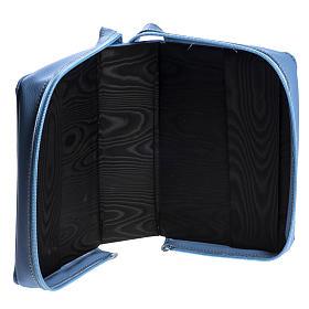 Copertina Bibbia Gerusalemme azzurro pelle s4