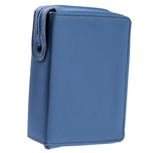Copertina Bibbia Gerusalemme azzurro pelle 1