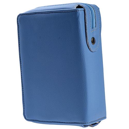 Copertina Bibbia Gerusalemme azzurro pelle 2