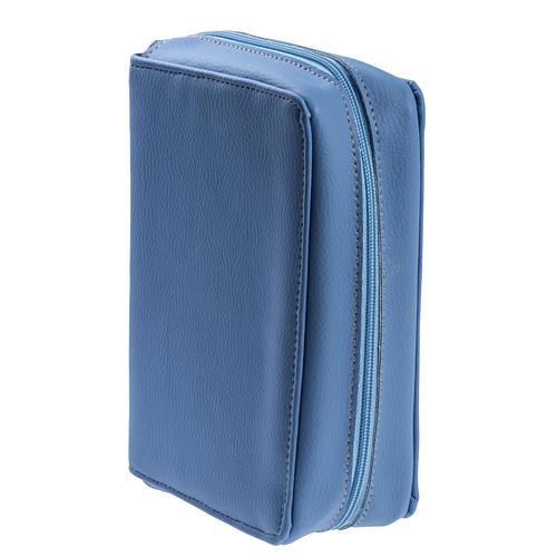Copertina Bibbia Gerusalemme azzurro pelle 3