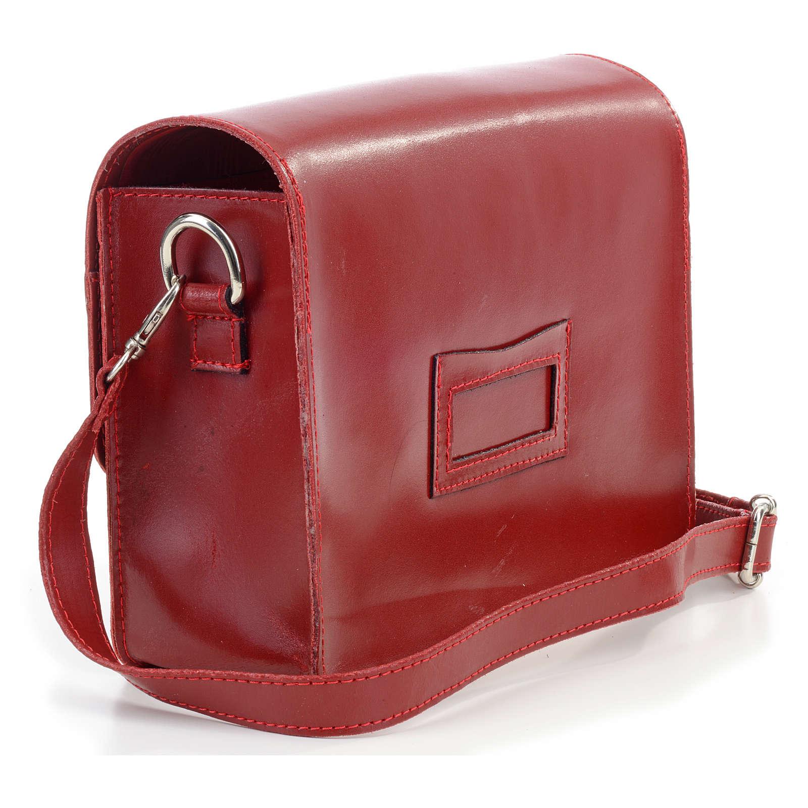 Bolsa couro para Bíblia (universal) de tiracolo 4