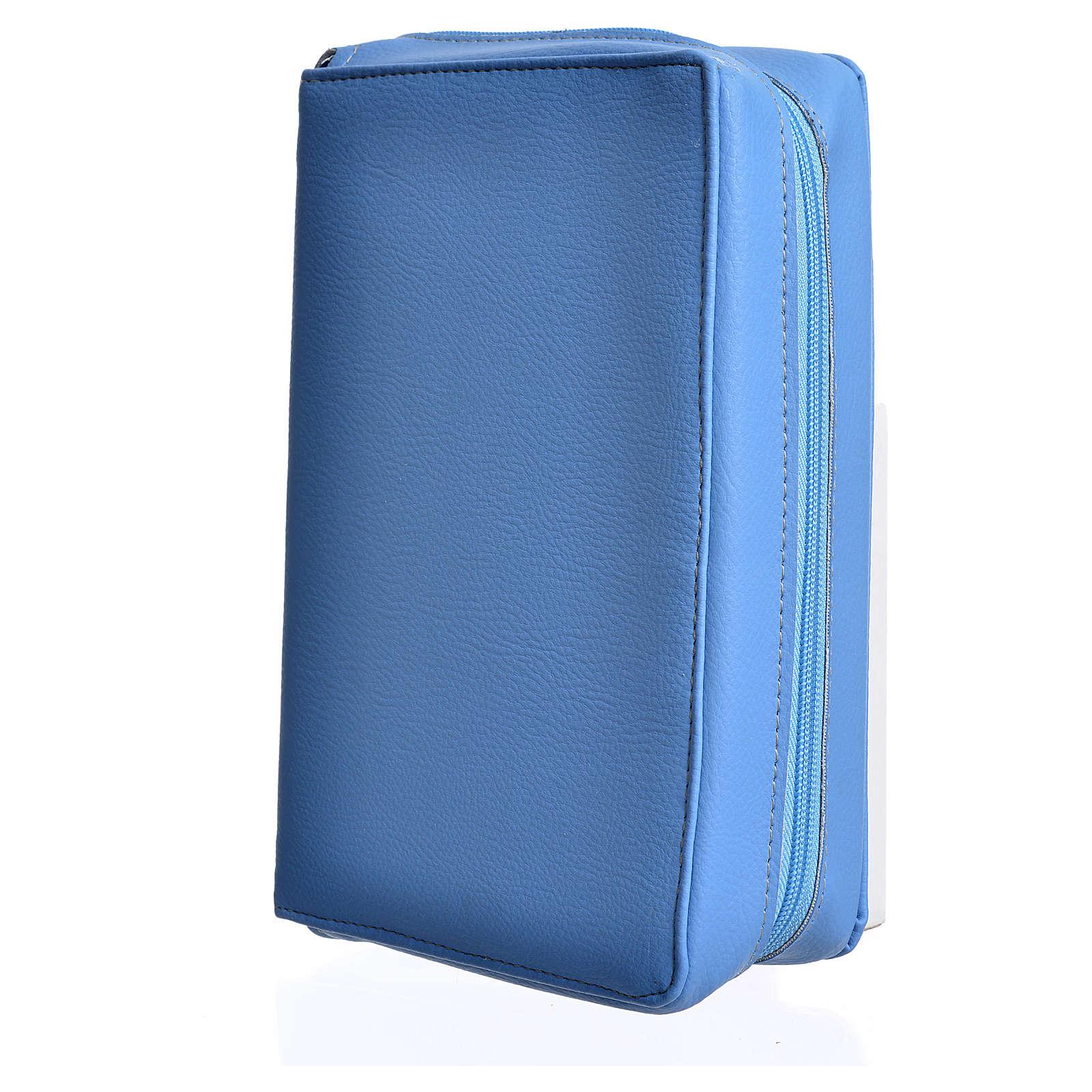 Copertina pelle azzurra Bibbia Via Verità Vita 4