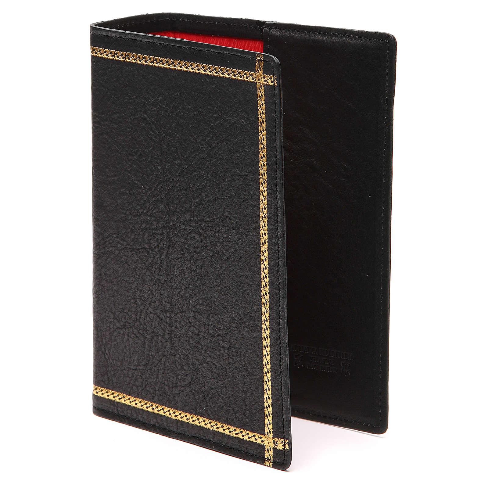 Custodia Bibbia Gerusalemme scritta oro pelle nera 4