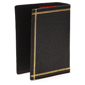 Custodia Bibbia Gerusalemme scritta oro pelle nera s3