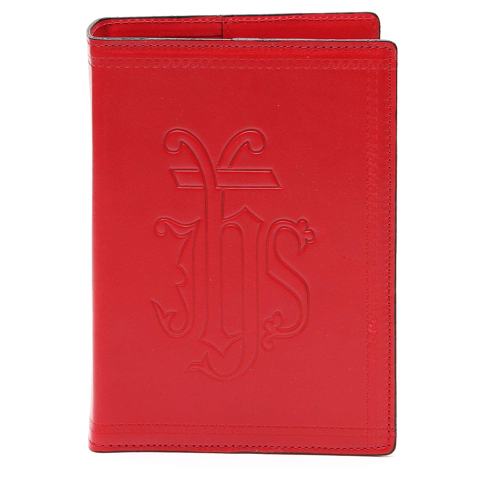 Copertina Bibbia Gerusalemme IHS pelle rossa 4