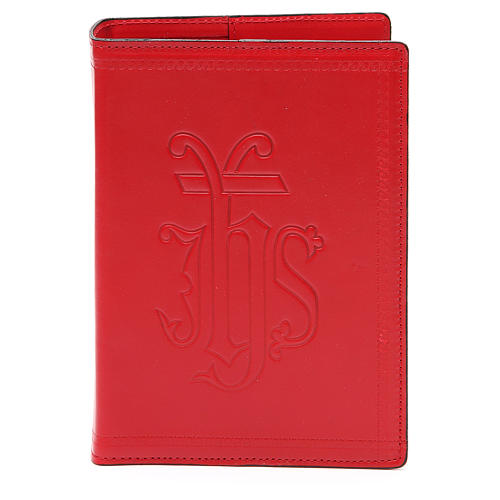 Copertina Bibbia Gerusalemme IHS pelle rossa 1