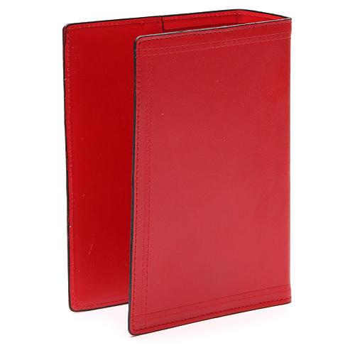 Copertina Bibbia Gerusalemme IHS pelle rossa 3