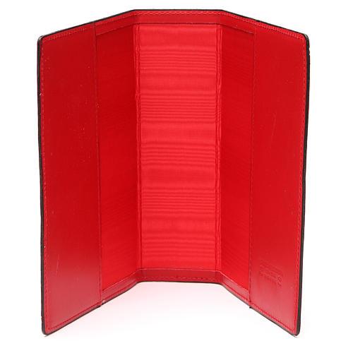 Copertina Bibbia Gerusalemme IHS pelle rossa 5