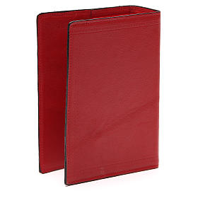 Couverture Bible Jérusalem IHS croix cuir rouge s3
