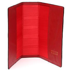 Couverture Bible Jérusalem IHS croix cuir rouge s5