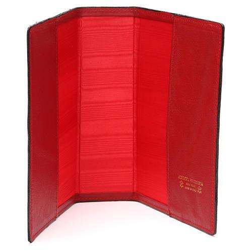 Couverture Bible Jérusalem IHS croix cuir rouge 5