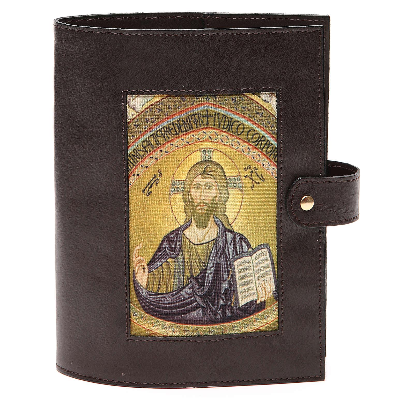 Custodia Bibbia Gerusalemme Pantocratore pelle testa di moro 4