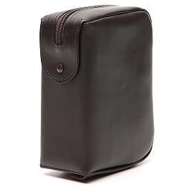 Custodia Bibbia Gerusalemme tascabile nera pelle zip s4