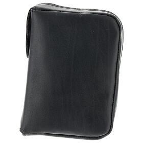 Custodia Bibbia Gerusalemme tascabile nera pelle zip