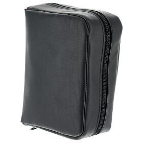 Custodia Bibbia Gerusalemme tascabile nera pelle zip s3