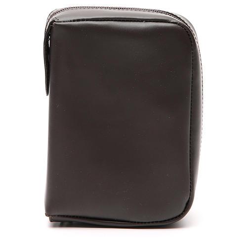 Custodia Bibbia Gerusalemme tascabile nera pelle zip 1