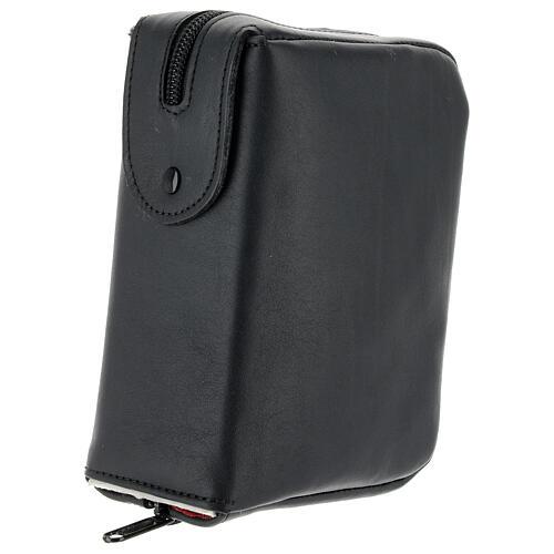 Custodia Bibbia Gerusalemme tascabile nera pelle zip 2