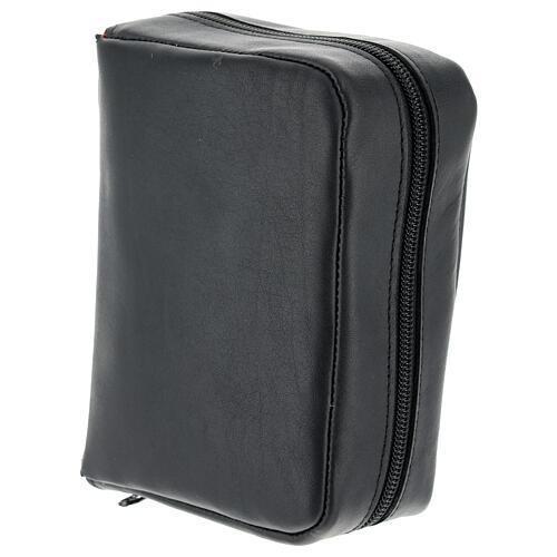 Custodia Bibbia Gerusalemme tascabile nera pelle zip 3