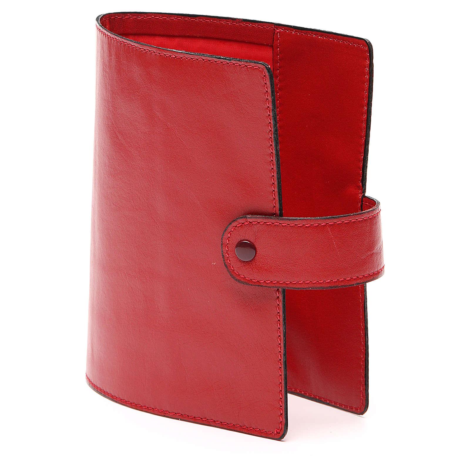 Custodia Bibbia Gerusalemme tascabile rossa 4