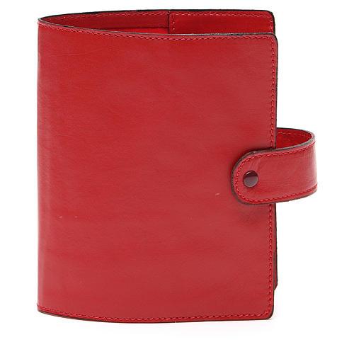 Custodia Bibbia Gerusalemme tascabile rossa 1