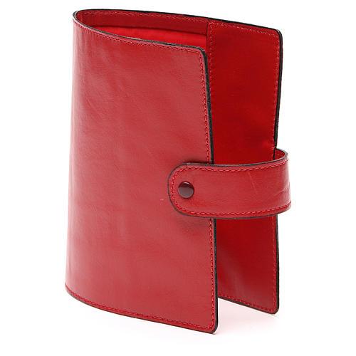 Custodia Bibbia Gerusalemme tascabile rossa 2