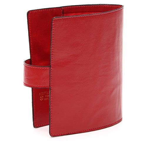 Custodia Bibbia Gerusalemme tascabile rossa 3