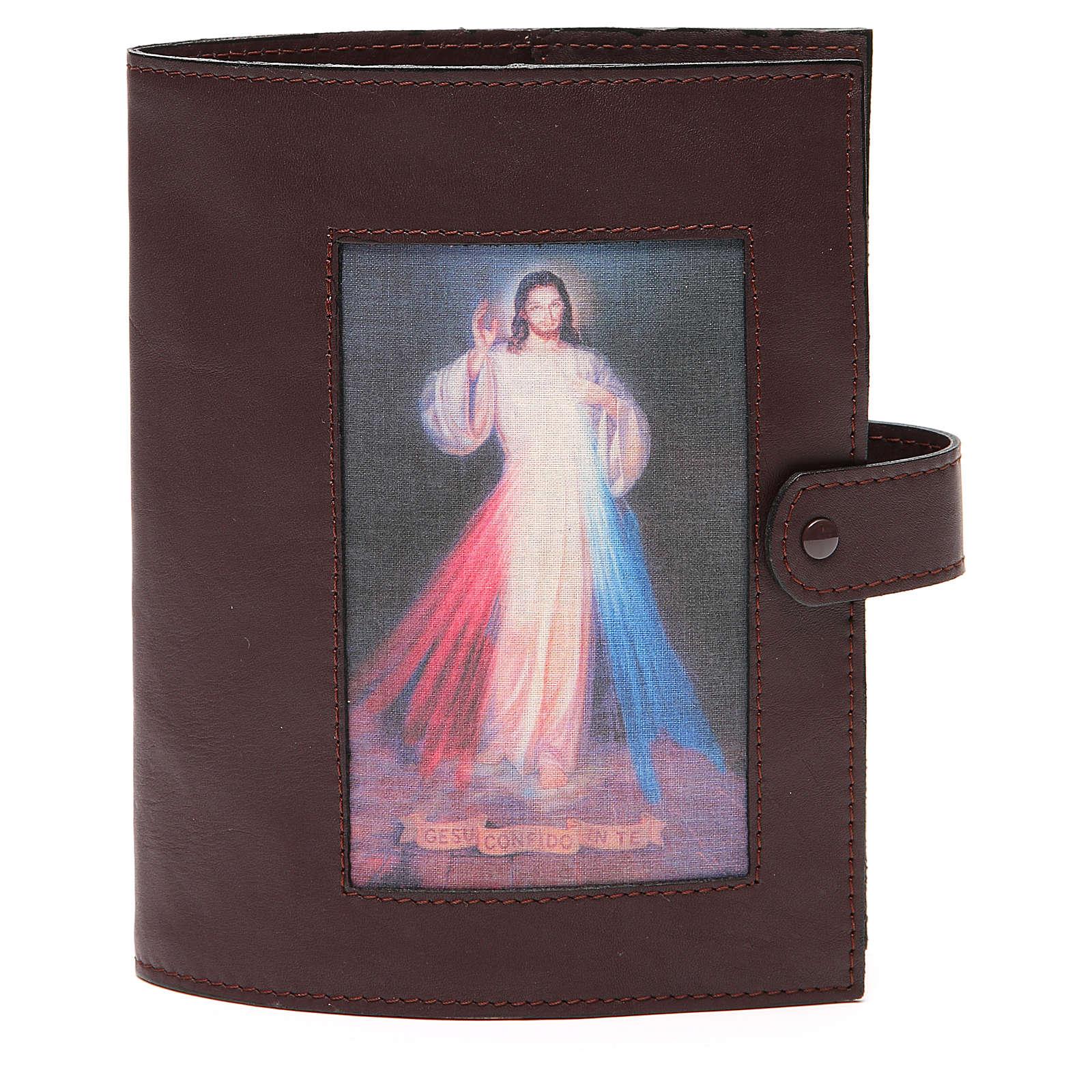 Couverture Bible Jérusalem brun foncé Christ Miséricordieux 4