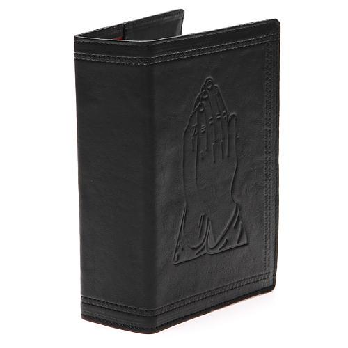 Couverture Bible Jérusalem cuir noir Mains Jointes 4