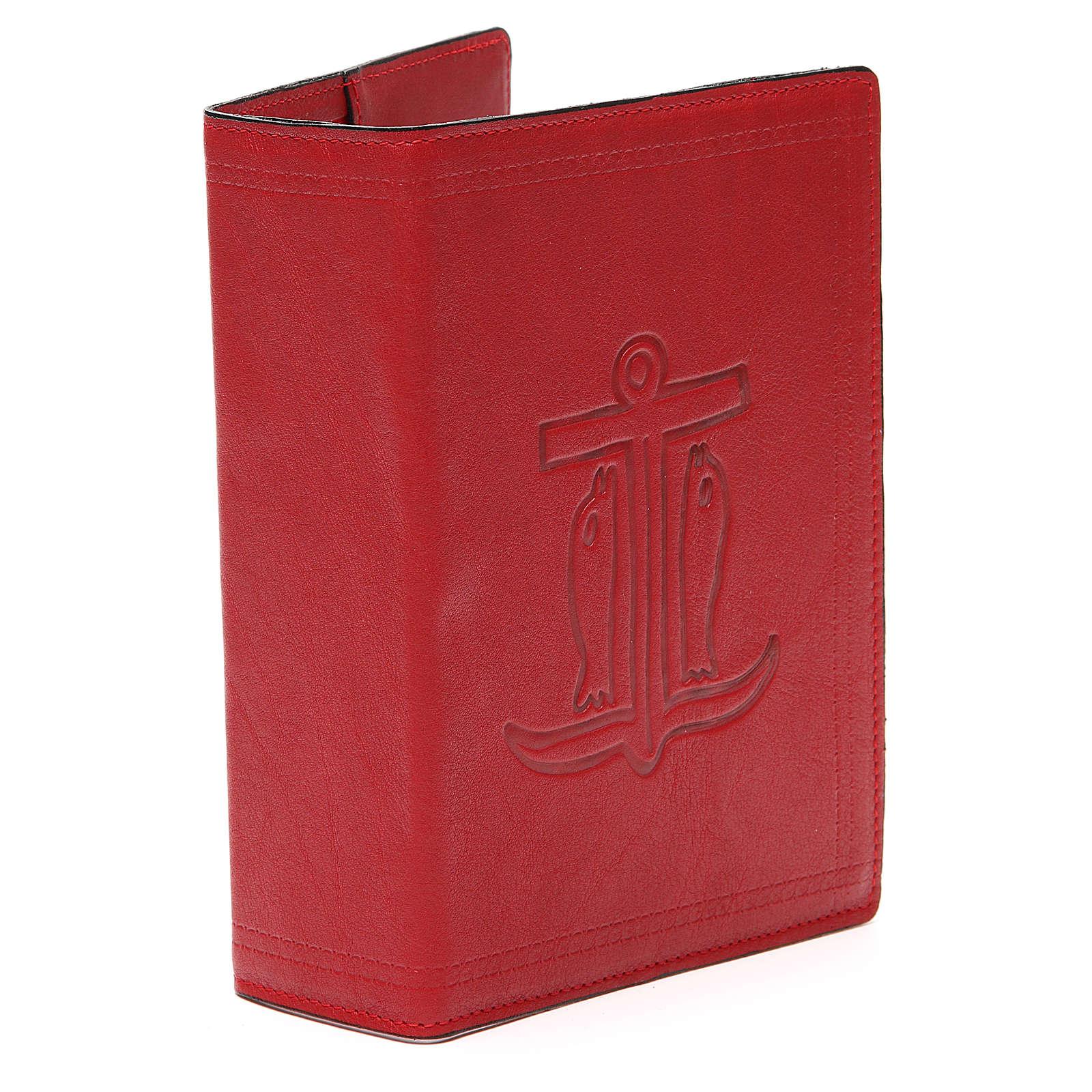 Copertina Bibbia Gerusalemme pelle rossa Ancora Salvezza 4