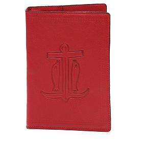Copertina Bibbia Gerusalemme pelle rossa Ancora Salvezza s1