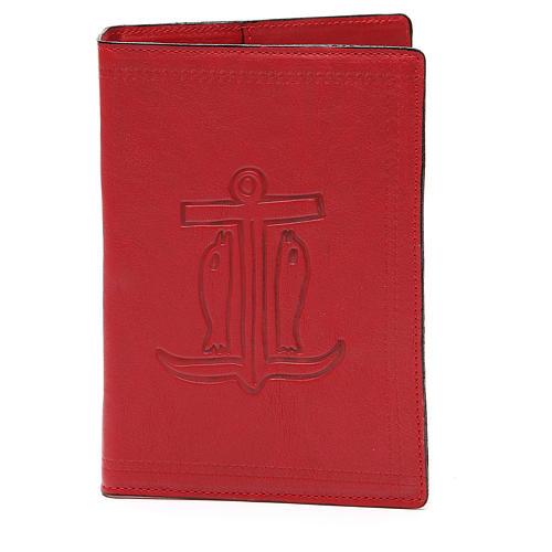 Copertina Bibbia Gerusalemme pelle rossa Ancora Salvezza 1