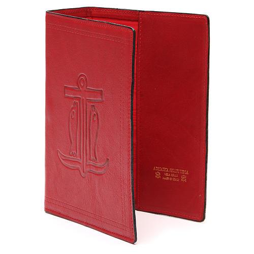 Copertina Bibbia Gerusalemme pelle rossa Ancora Salvezza 2