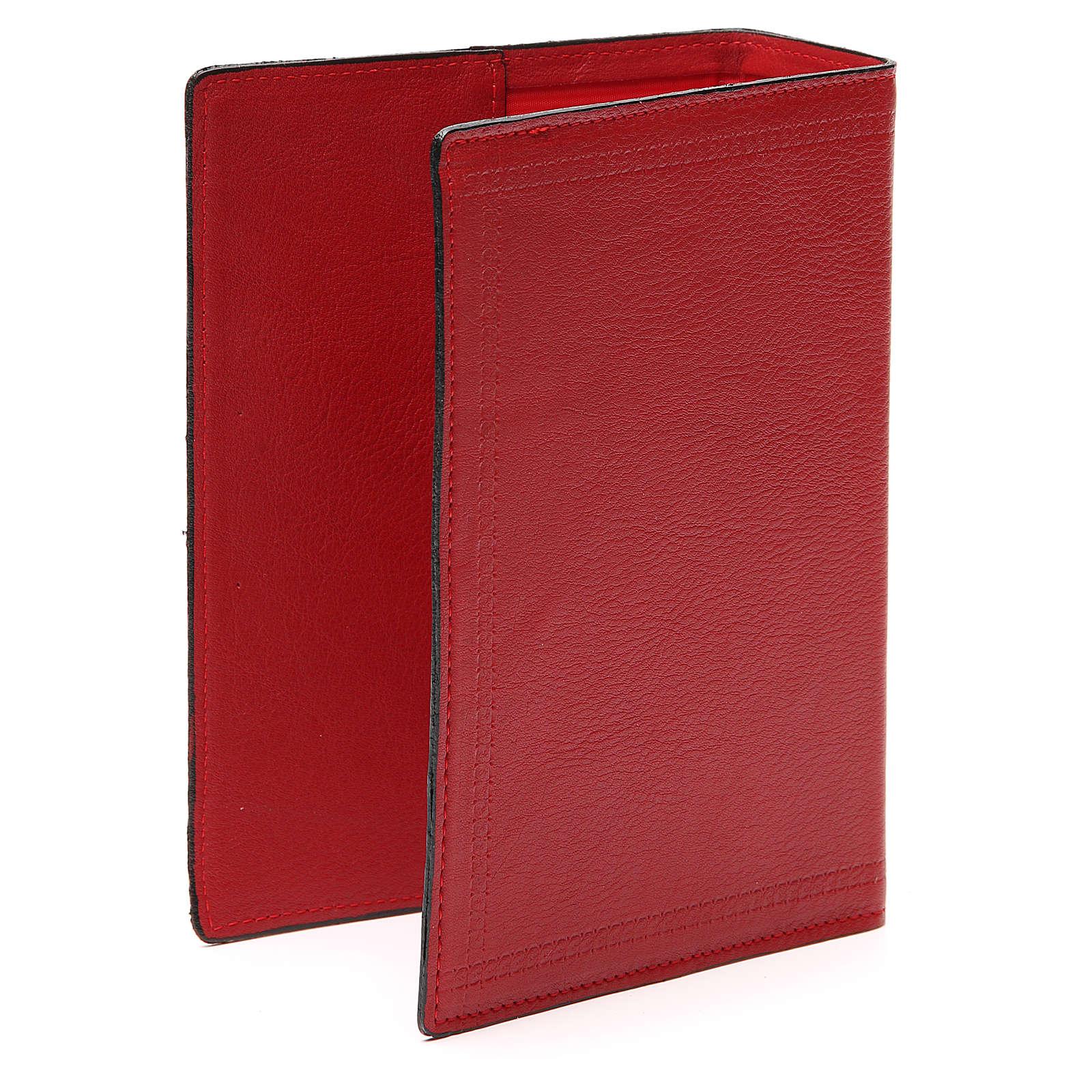 Copertina Bibbia Gerus. pelle rossa Ancora della Salvezza 4