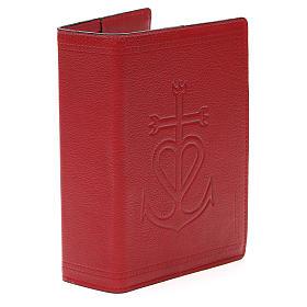 Copertina Bibbia Gerus. pelle rossa Ancora della Salvezza s4
