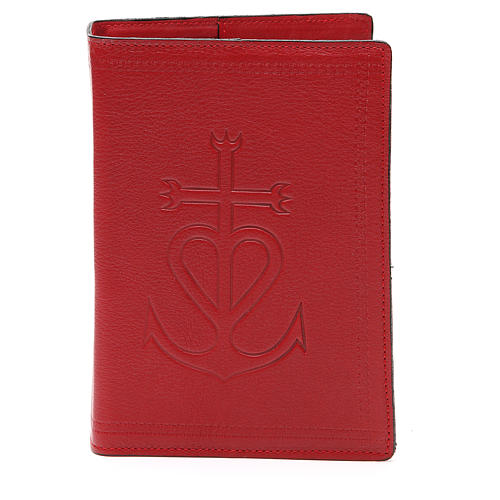 Copertina Bibbia Gerus. pelle rossa Ancora della Salvezza 1