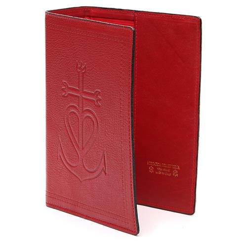 Copertina Bibbia Gerus. pelle rossa Ancora della Salvezza 2