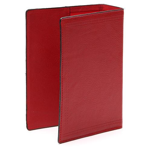 Copertina Bibbia Gerus. pelle rossa Ancora della Salvezza 3