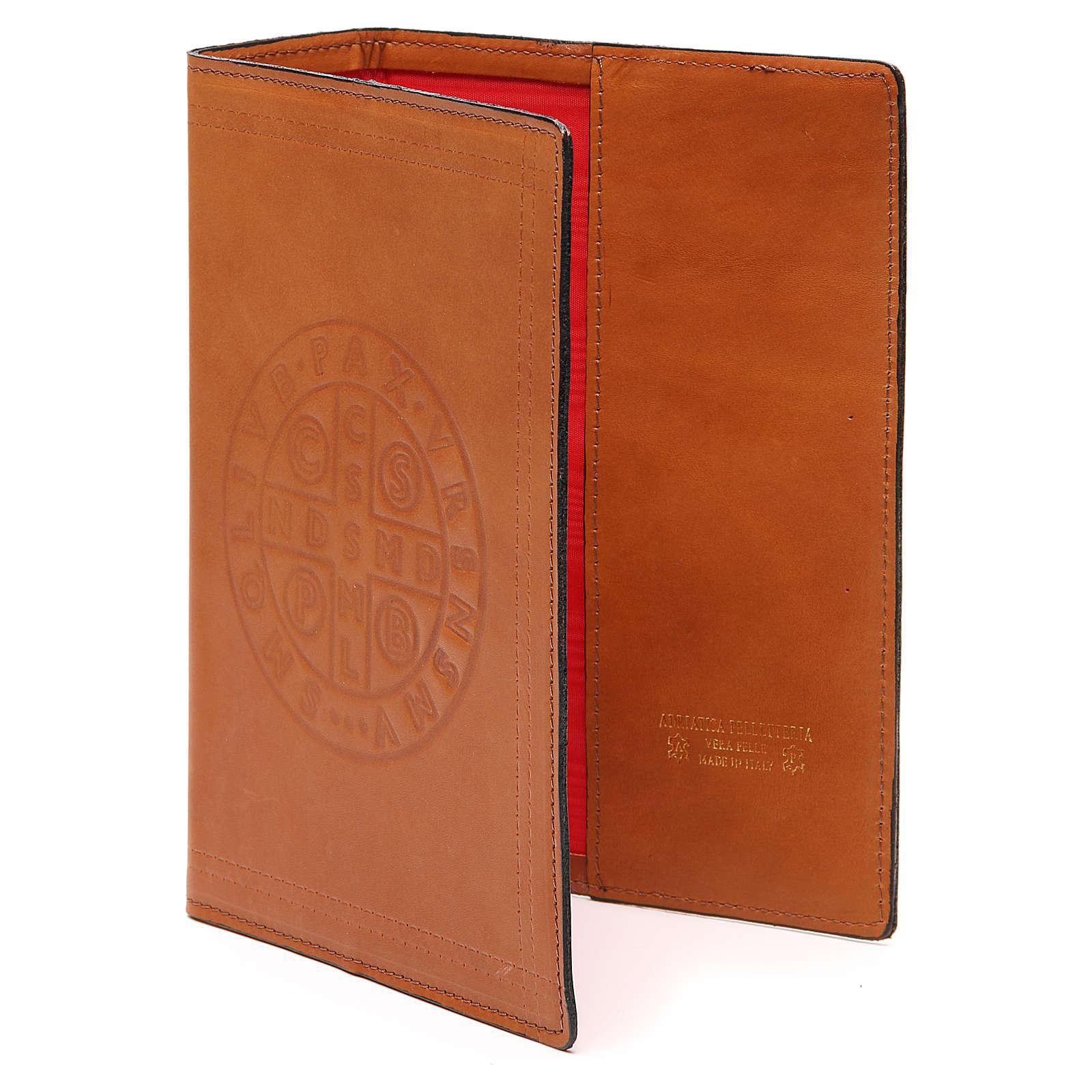 Copertina Bibbia Gerusalemme pelle marrone S. Benedetto 4