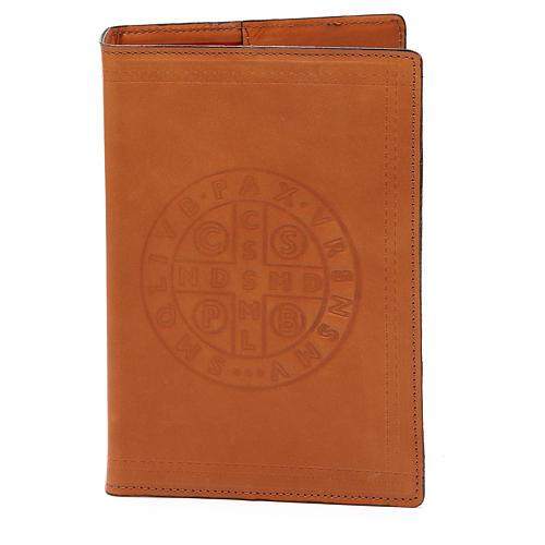 Copertina Bibbia Gerusalemme pelle marrone S. Benedetto 1