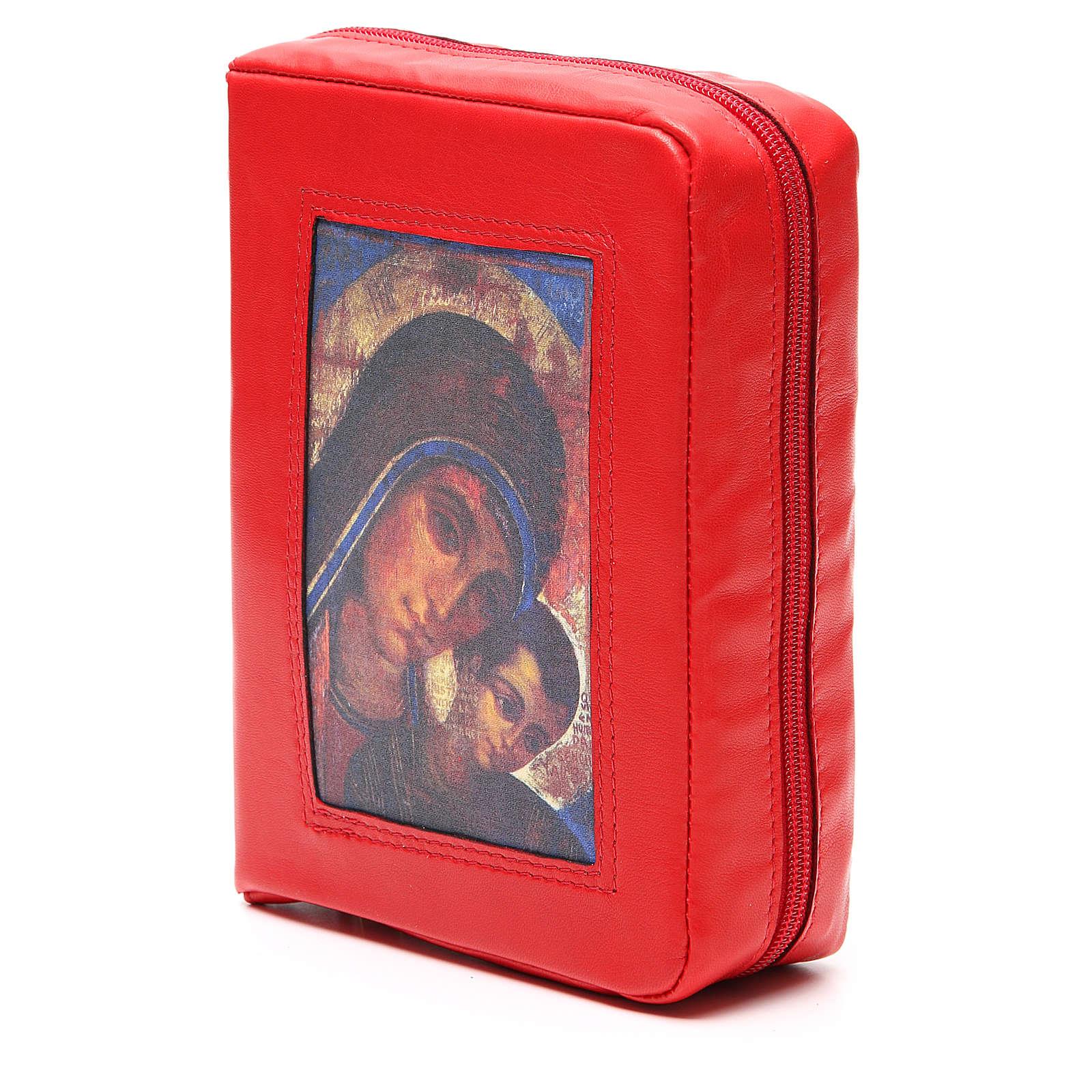 Custodia Bibbia Gerusalemme rossa Mad. Kiko zip 4