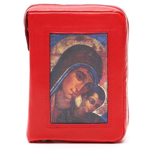 Custodia Bibbia Gerusalemme rossa Mad. Kiko zip 1