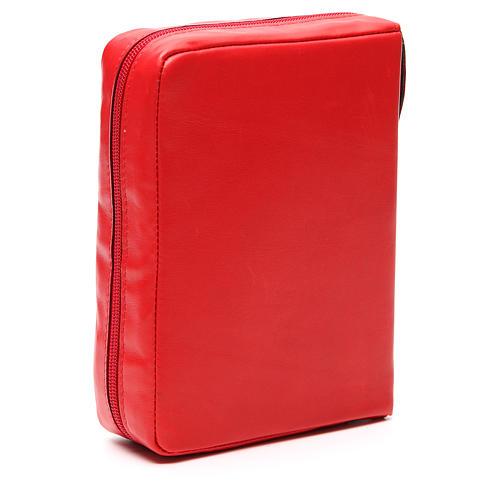 Custodia Bibbia Ger. Pelle rossa Pantocratore Pictografia 3