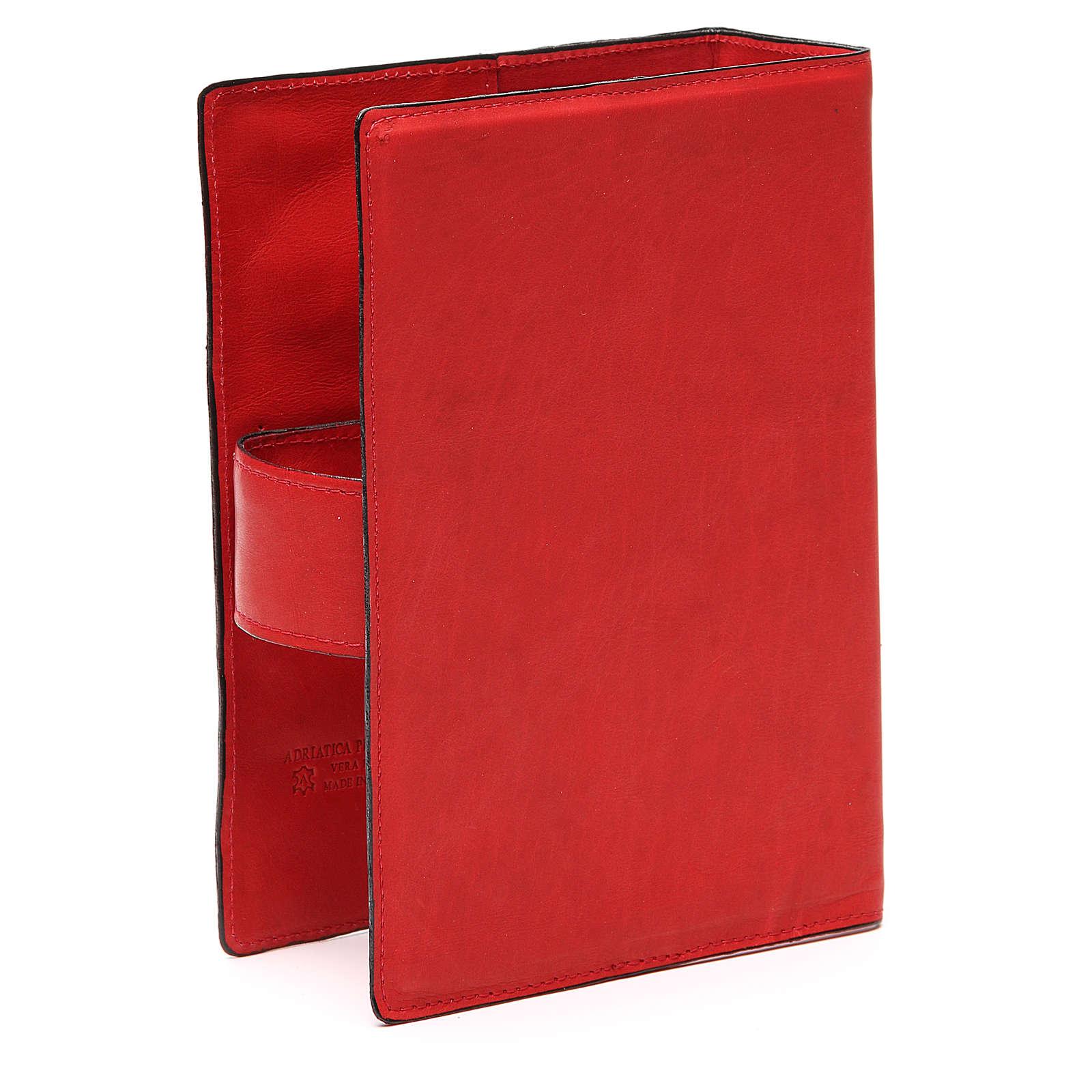 Custodia Bibbia Ger. magnetica Gesù metallo rossa 4