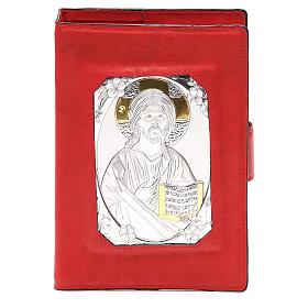 Custodia Bibbia Ger. magnetica Gesù metallo rossa s1