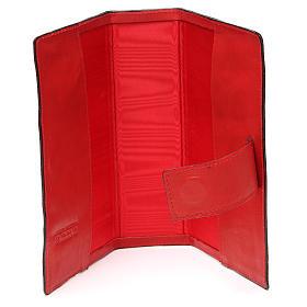 Custodia Bibbia Ger. magnetica Gesù metallo rossa s5