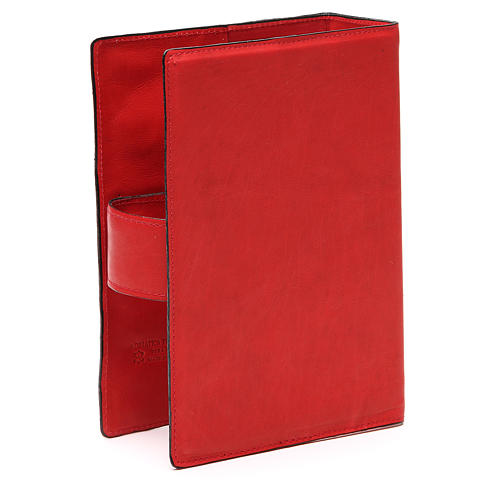 Custodia Bibbia Ger. magnetica Gesù metallo rossa 3