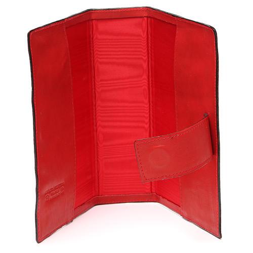Custodia Bibbia Ger. magnetica Gesù metallo rossa 5